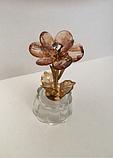 """Фигурка  """"Цветок"""" (8.5 см) металл, стекло, фото 3"""