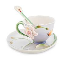Фарфоровая чайная пара Орхидея (Pavone) FM- 37/ 3
