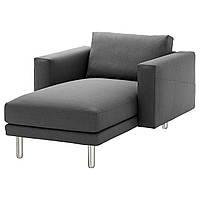 IKEA NORSBORG Шезлонг, Финнста темно-серый, металл  (392.422.15)