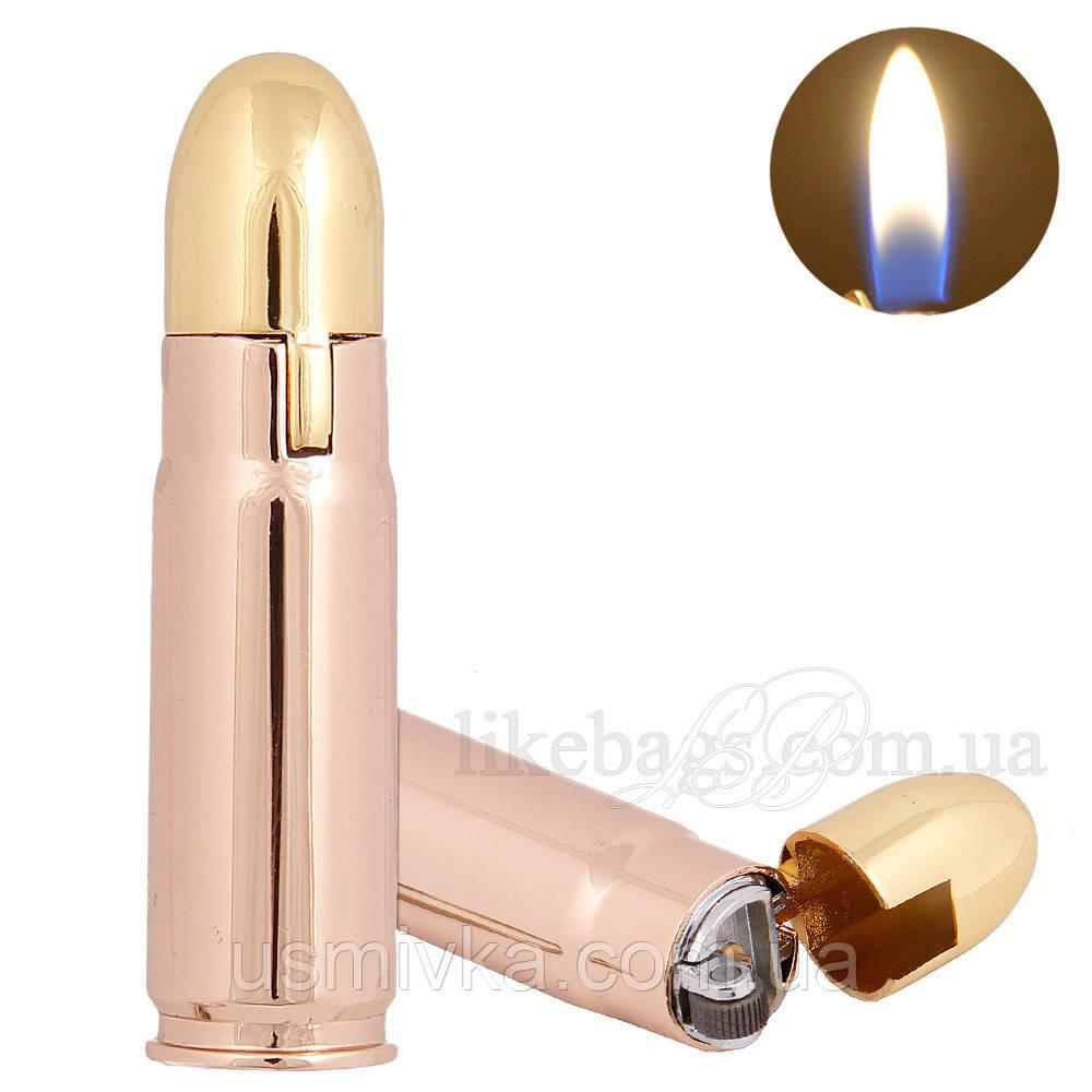 Кремниевая зажигалка брелок пуля