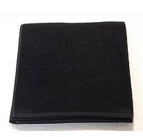 Полотенце банное Philippus 70*140 см черное, black 530 г/м2 100% хлопок