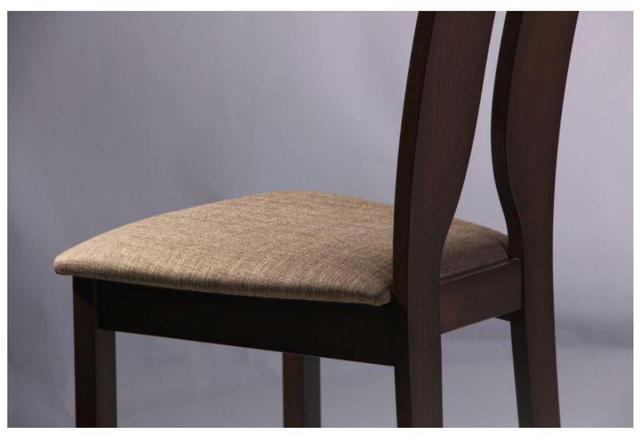 Стул обеденный Дуглас СВ-2407YBH орех темный-ткань коричневая (Фото 9)