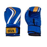Боксерские перчатки синие качественные CLUB BWS, Flex, 8oz,10oz,12oz
