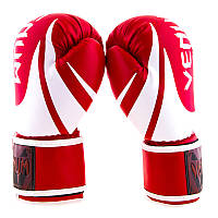 Боксерские перчатки качественные красные Venum, DX, 8,10,12oz
