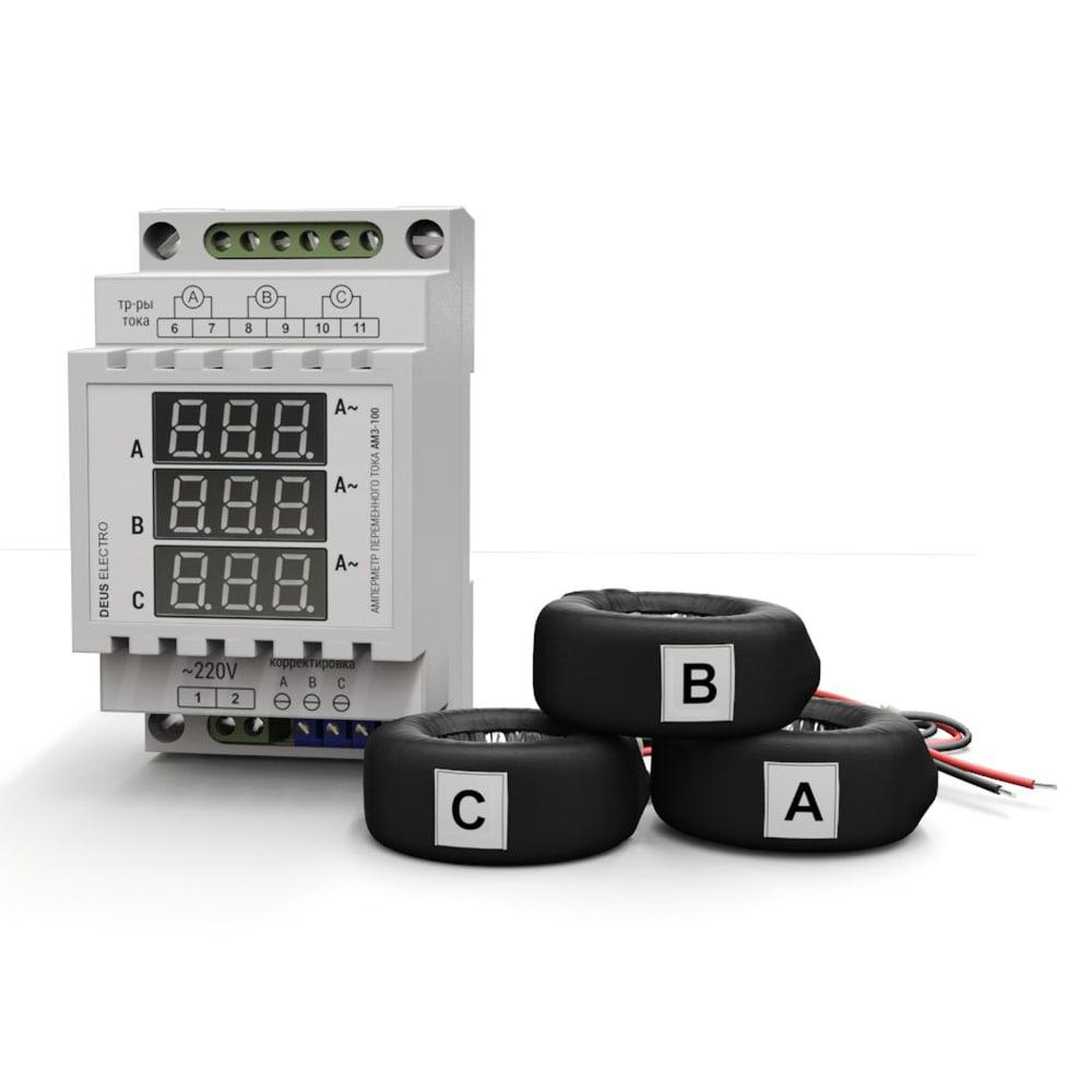Амперметр цифровой переменного тока, трехфазный АМ3-100