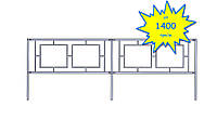 Ограждения металлическое для пешеходных переходов, лестничные ТИП-2 | Цена ограждения из металла производителя