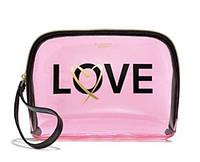 Косметичка Victoria's Secret нежно-розовая силиконовая