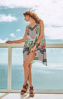 Широкое пляжное платье с принтом David DB8-009 46(L) Цветной David DB8-009