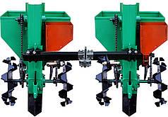 Картофелесажалка двухрядная для мототрактора, минитрактора с бункером для удобрения КСН-2МТ-90