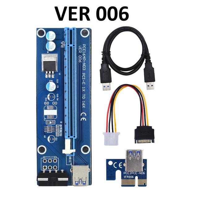 PCI express, PCI-e riser райзер 1X на 16X с помощью USB 3.0 кабеля длиной 50см., BTC VER 006