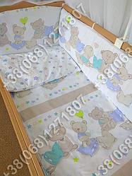 """Детское постельное белье в кроватку """"Бим Бом"""" комплект 6 ед. Мишки звездочки"""