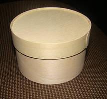 Эко упаковка круглые формы с крышкой из дерева (шпона) форма с размерами 100*40 мм