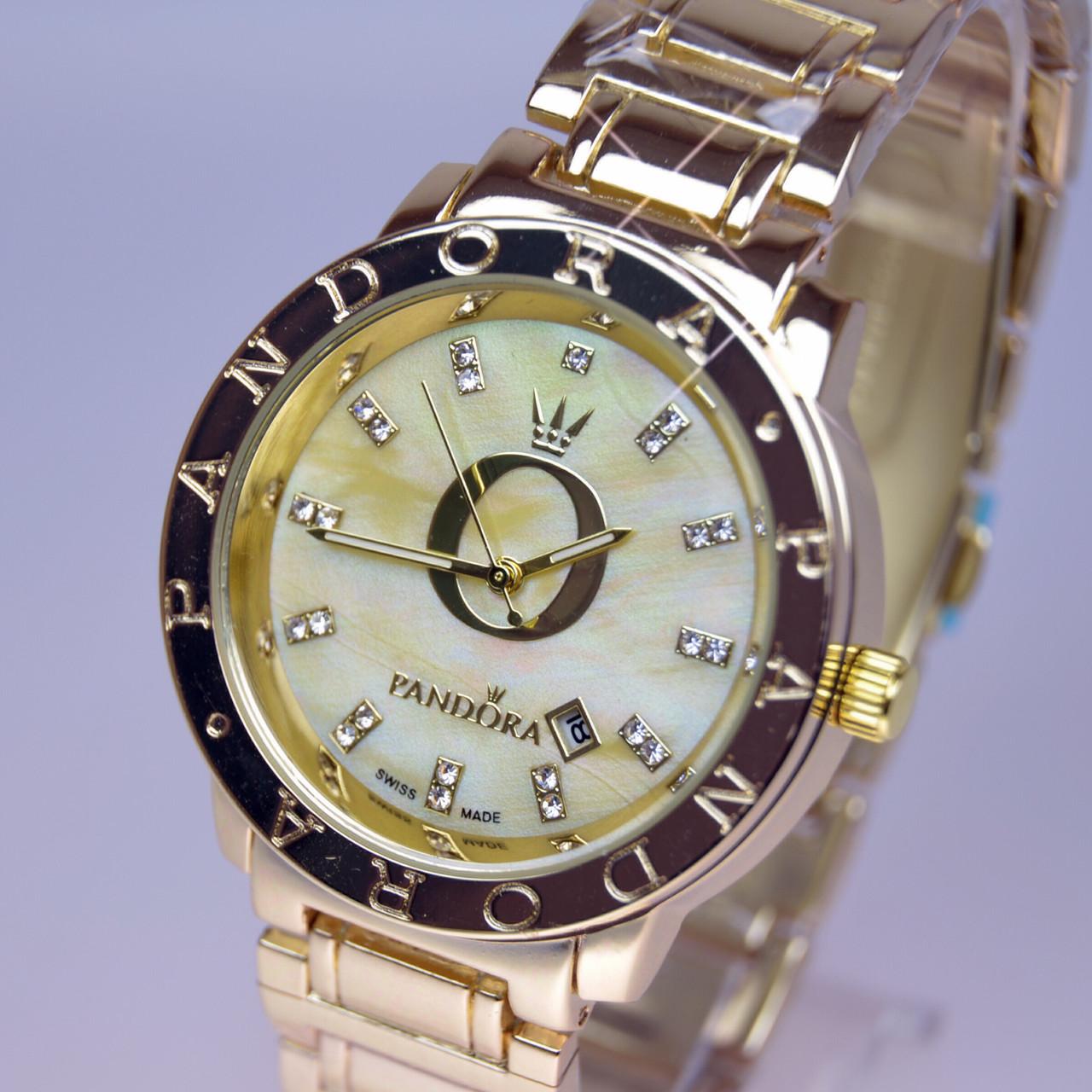 Женские наручные часы PANDORA (Пандора) B34 Gold перламутр