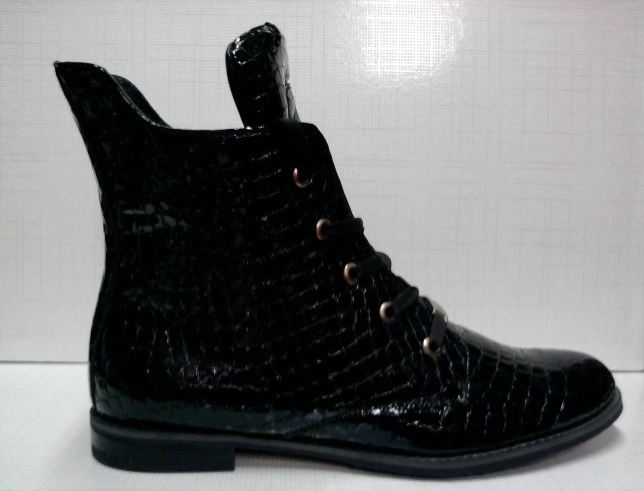 bb25b4db6606 Ботинки женские Grossi черные. Кожа лакированная. 40 p.  продажа ...