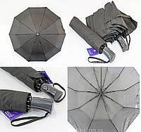 """Черный зонт полуавтомат оптом на 10 карбоновых спиц от фирмы """"Feeling Rain""""., фото 1"""