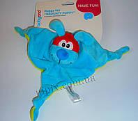 Мягкая игрушка-подушка с погремушкой Щенок