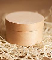 Эко упаковка круглая 90*40 мм с крышкой из дерева (шпона)