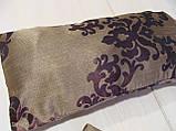 Комплект подушек коричневые завитки, 2шт, фото 3