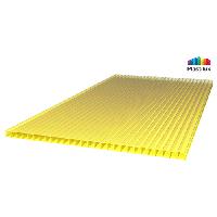 Сотовый поликарбонат SUNNEX 8мм жёлтый