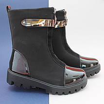 Черные демисезонные сапоги в школу для девочки Tom.m размер 36, фото 2