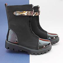 Черные демисезонные сапоги в школу для девочки Tom.m размер 36, фото 3