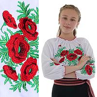 Вышиванка на девочку с цветами Соломия от 7 до 12 лет
