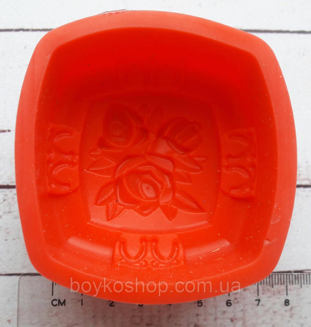 Форма для мыла силиконовая Роза 6,5*3,5 см