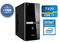 Персональный компьютер Intel Core i3 7100 (3.9GHz)  / DDR4_4Gb / HDD_500Gb / Intel_HD630