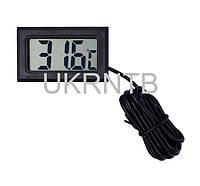 Термометр цифровой / Термометр электронный от -50 °C до +110 °C Черный