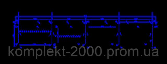 схема металлического ограждения