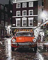 Картина по номерам KH3512 Италия Красное авто (40 х 50 см) Идейка