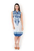Женской пляжное платье без рукавов Iconique IC8-072 48(XL) Белый Iconique IC8-072