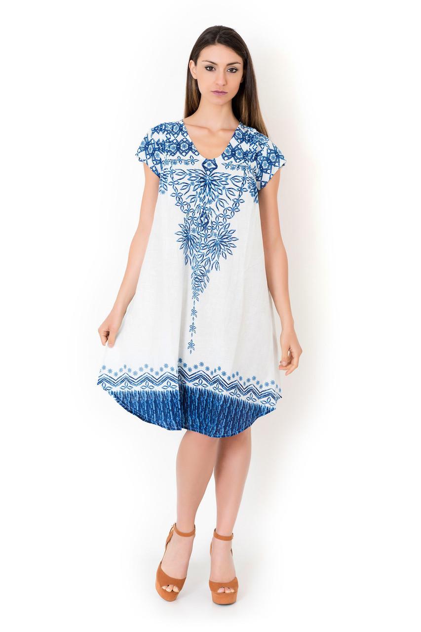 f38a8685517d Широкое пляжное платье для женщин Iconique IC8-074 44(M) Белый Iconique  IC8-074