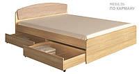 Двухспальная кровать Астория +  2 выдвижных ящика для хранения белья