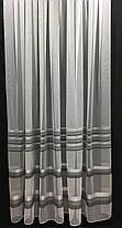 Тюль Полоска Серый, микросетка с вышивкой, фото 2