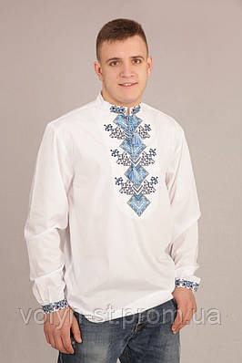 Вышиванка мужская из рубашечной ткани  Оберіг