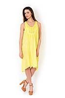 Желтое пляжное платье с вышивкой Iconique IC8-088 44(M) Желтый Iconique IC8-088