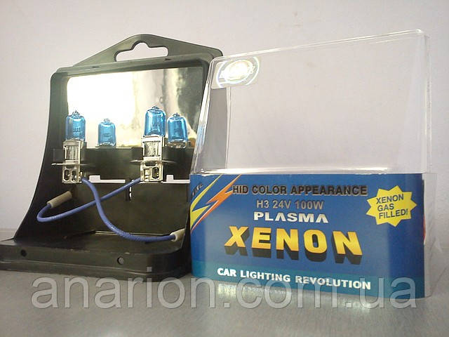 Автолампа H3 24V 100W  (АКГ 24-100 PK22s) Plazma Xenon,для туманок.
