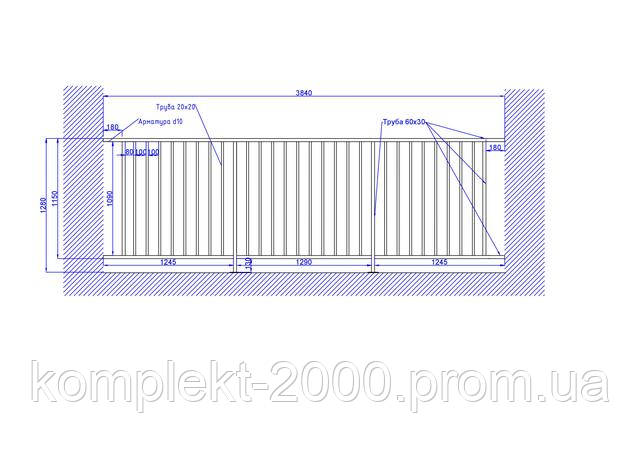 схема ограждения для балкона