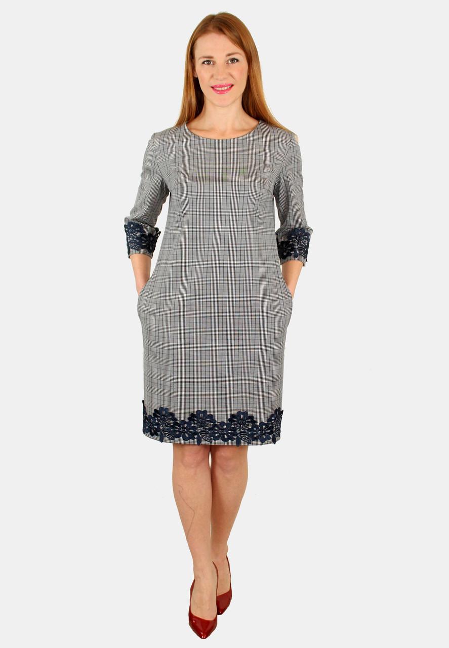 Нарядное платье с кружевом 44-50 р