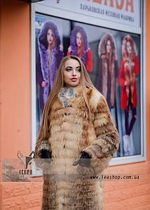 Женская шуба трансформер из натурального меха лисы