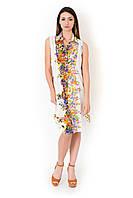 Цветочное пляжное платье без рукавов Iconique IC8-091 48(XL) Белый Iconique IC8-091