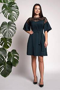 Платье Афина 0310_5 Тёмно-зелёное