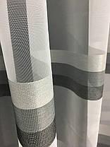 Тюль Полоска Серый, 3 метра, фото 2