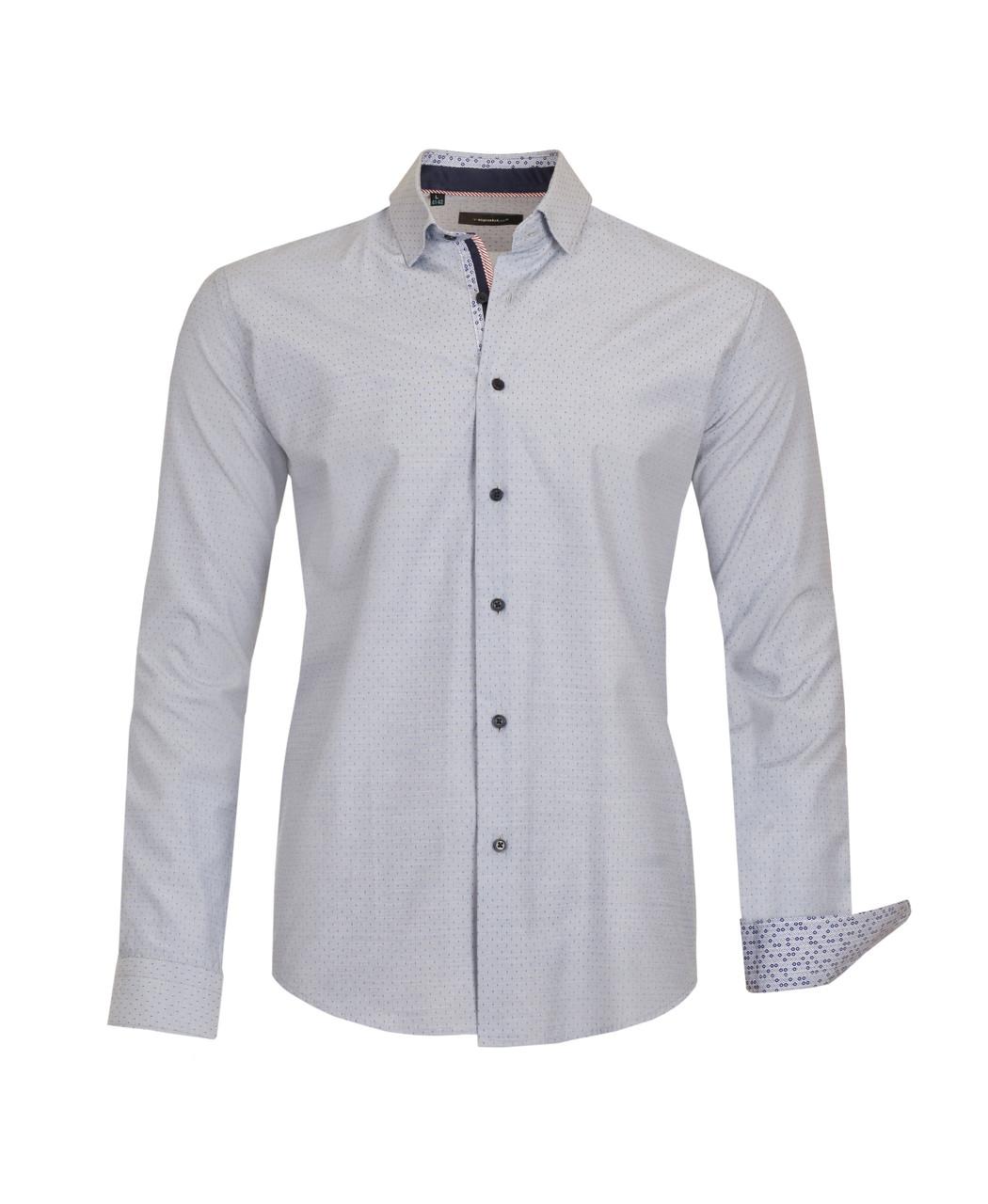 Рубашка мужская Karol Серая