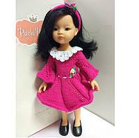 Платье с кружевным воротником Розочка Handmade для кукол Paola Reina, 32 см
