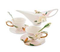 Фарфоровый чайный набор Лилия на 2 персоны (Pavone) FM- 40/ 1