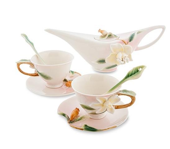 Фарфоровая посуда Pavone Дизайн Белая Лилия