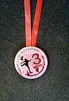 Медаль металлическая школа цвета в ассортименте
