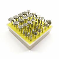 Набор боров алмазных на штоке 3,0 мм (крупное зерно) (50 шт)